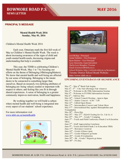 Download the May newsletter by clicking on this image.
