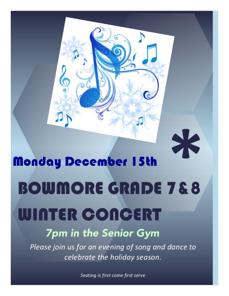 Winter Concert 2014 flyer