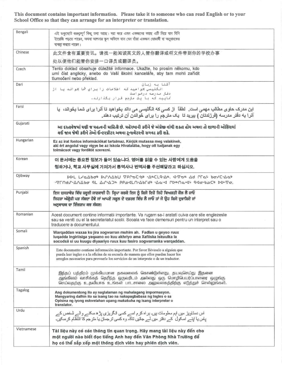 ETFO Parent Letter Strike page 2