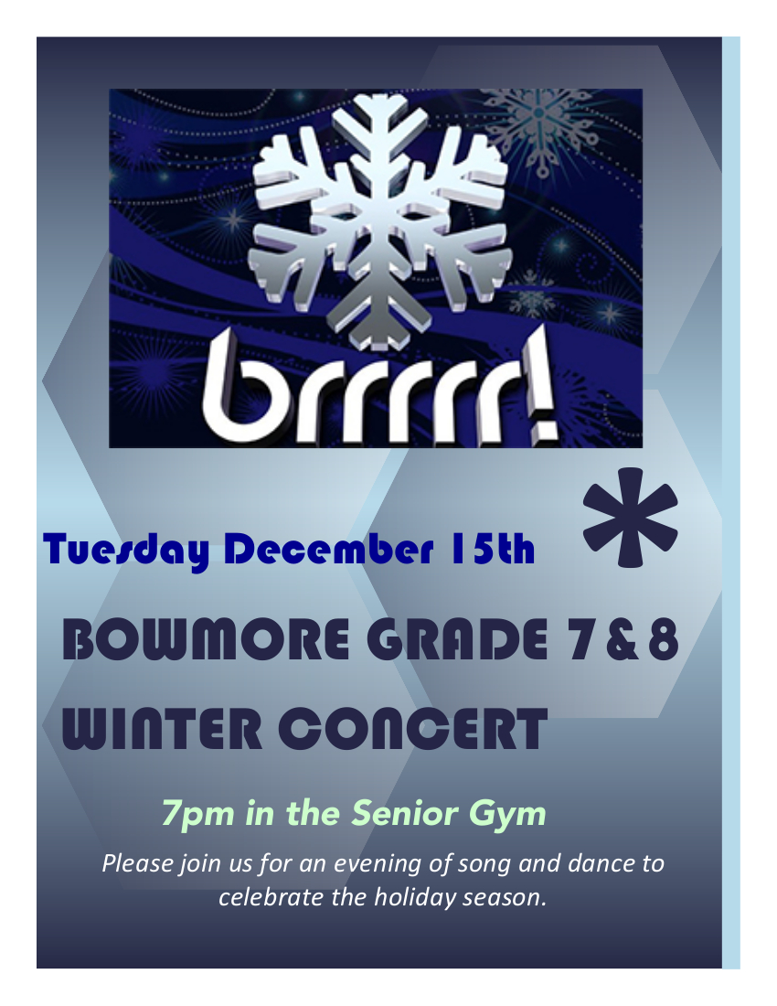 Winter Concert flyer 2015