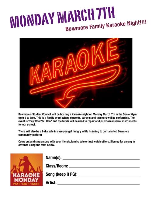 Bowmore Karaoke