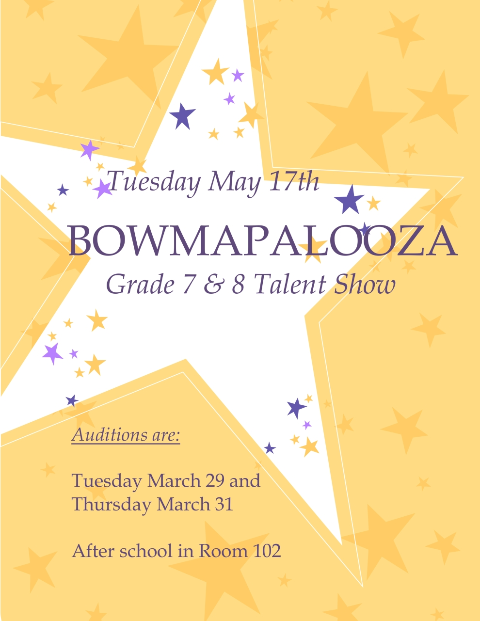 Bowmapalooza Auditions 2016