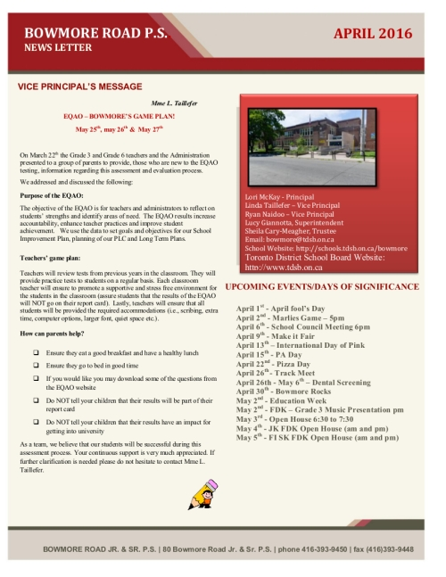 Download the April newsletter by clicking on this image.