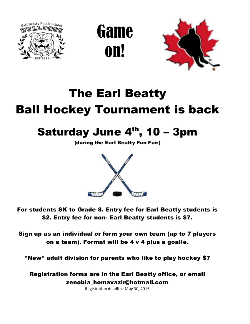 Earl Beatty Ball Hockey Tournament 2016