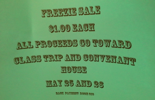 Freezie sale May 25 and 26