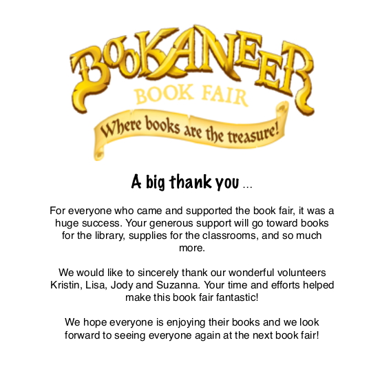 Thank you from the Book Fair!