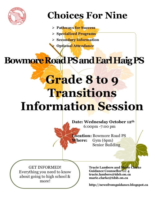 Oct 12 Learn your options about high school and more