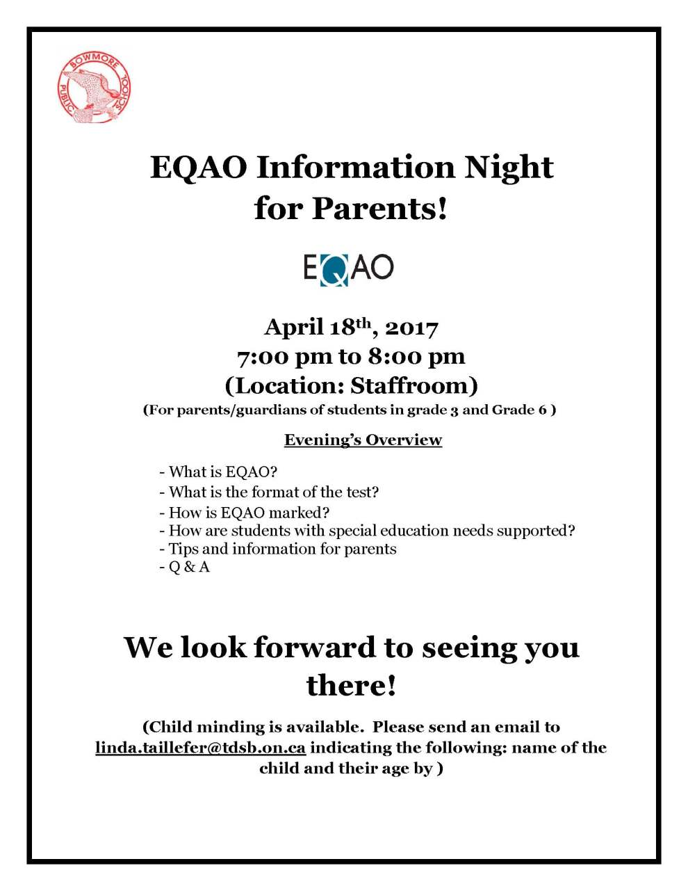 EQAO Flyer 2017