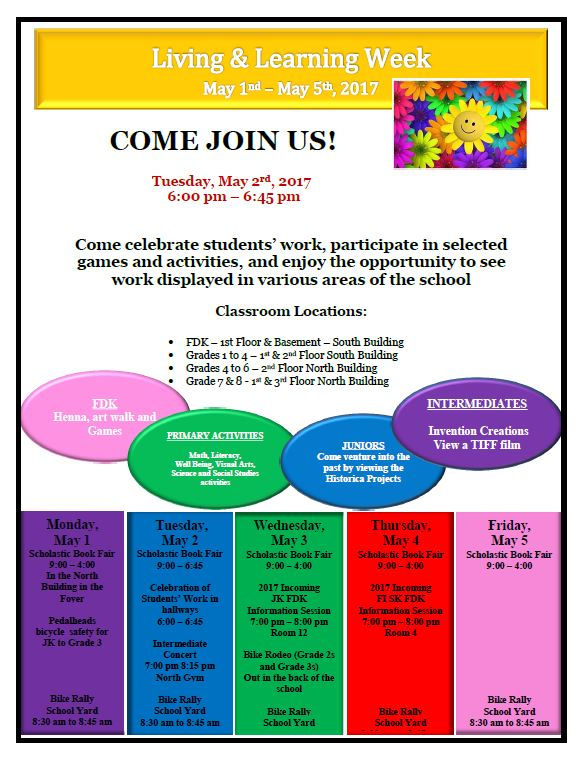Living & Learning Week May 1